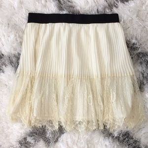 FOREVER 21 romantic cream  skirt
